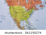 Map of united states and north...
