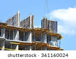 monolithic building...   Shutterstock . vector #361160024