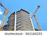 crane and building construction ... | Shutterstock . vector #361160231