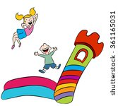 an image of children playing on ... | Shutterstock .eps vector #361165031