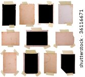 vintage photo frames set 5  big ... | Shutterstock . vector #36116671