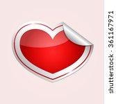heart shape sticker   Shutterstock .eps vector #361167971