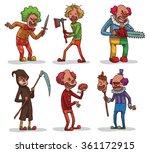 vector set of images of evil... | Shutterstock .eps vector #361172915