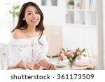 Beautiful Asian Woman Planning...