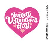 happy valentine's day   perfect ... | Shutterstock .eps vector #361176527