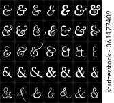 Set Of Decoration Ampersands...