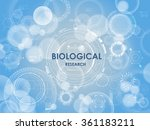 biological background with hud...