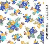 hibiscus flower pattern | Shutterstock .eps vector #361184315