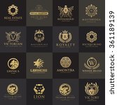 luxury logo set best selected...   Shutterstock .eps vector #361189139