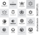 luxury logo set best selected... | Shutterstock .eps vector #361189151