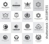 luxury logo set  best selected...   Shutterstock .eps vector #361189151