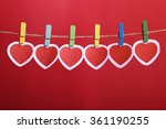 love valentine's hearts and... | Shutterstock . vector #361190255