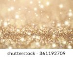 abstract golden holidays... | Shutterstock . vector #361192709