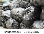 pile of black garbage bags  | Shutterstock . vector #361193807