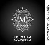 stylish graceful monogram   Shutterstock . vector #361195007