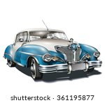 retro car. | Shutterstock .eps vector #361195877