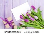 Purple Tulip Bouquet  Blank...