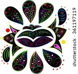 floral bright embroidery like...   Shutterstock .eps vector #361197119