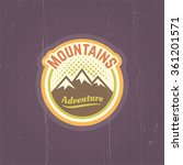 mountains vector vintage round... | Shutterstock .eps vector #361201571