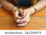 female prisoner being... | Shutterstock . vector #361204979