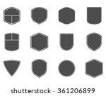 set of vintage frames  shapes... | Shutterstock .eps vector #361206899