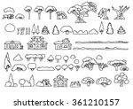 black and white line drawing... | Shutterstock .eps vector #361210157