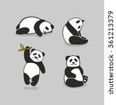 cute pandas. vector set   Shutterstock .eps vector #361213379