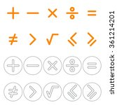 icons mathematical signs. plus  ... | Shutterstock .eps vector #361214201