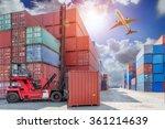 industrial container cargo... | Shutterstock . vector #361214639