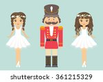 nutcracker and ballerina with... | Shutterstock .eps vector #361215329