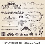calligraphic design elements.  | Shutterstock .eps vector #361227125