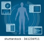 human body and info graphics ... | Shutterstock .eps vector #361236911
