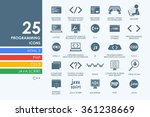 set of programming icons | Shutterstock .eps vector #361238669
