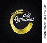 gold restaurant insignia  and... | Shutterstock .eps vector #361242239