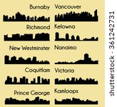 set of 10 city silhouette in... | Shutterstock .eps vector #361242731