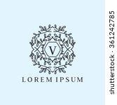 v letter vector logo template ... | Shutterstock .eps vector #361242785