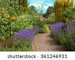 A Brick Pathway Edged With...