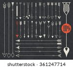 hipster arrows collection. big... | Shutterstock .eps vector #361247714