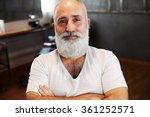 portrait of smiley senior man... | Shutterstock . vector #361252571