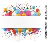 white paper banner  colored... | Shutterstock .eps vector #361253051