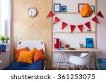 photo of single bed with... | Shutterstock . vector #361253075