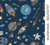 hand drawn cosmos doodle...   Shutterstock .eps vector #361253747