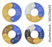 set of round infographic...   Shutterstock .eps vector #361256645