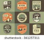 set of retro style ski club ... | Shutterstock .eps vector #361257311