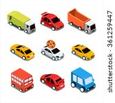 isometric city transport vector ... | Shutterstock .eps vector #361259447