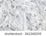 closeup of the shredded... | Shutterstock . vector #361260245