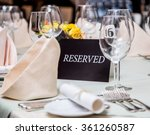 festival dinner setting and ... | Shutterstock . vector #361260587