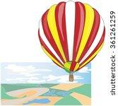 hot air balloon   mongolfier... | Shutterstock .eps vector #361261259