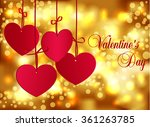 valentines day abstract blurred ... | Shutterstock .eps vector #361263785