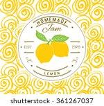 jam label design template. for...   Shutterstock .eps vector #361267037